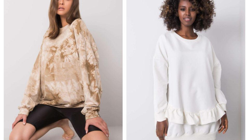 Biała bluza oversize